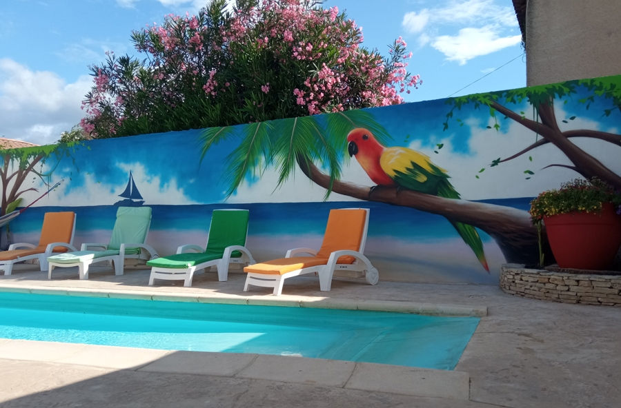 décoration street art piscine
